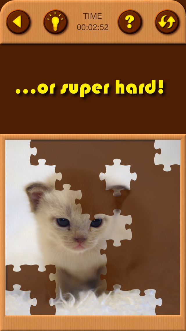 Screenshots of Cat Kitten Kitty Pet Baby Animal JIgsaw Puzzle Games for Girls who love educational memory learning puzzles for kids and toddlers for iPhone