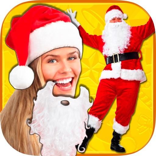 以自己的圣诞老人的照片和你的圣诞照片添加贴纸