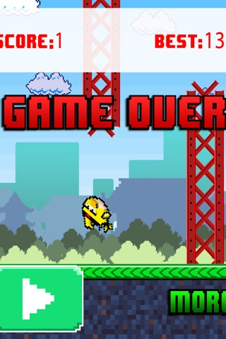 Birdie Fly Away - fly through pipes and have fun screenshot 2