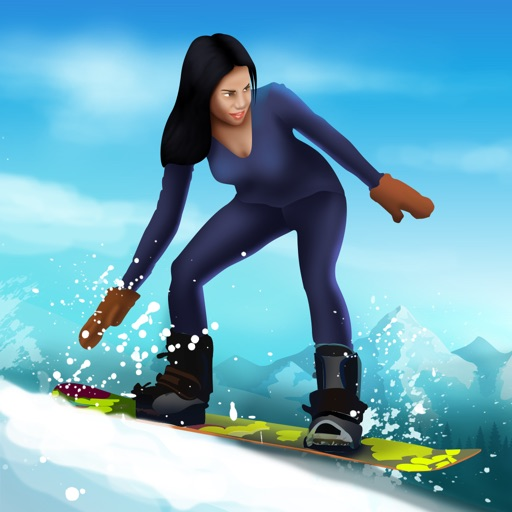 Snowboard Winter Downhill Mountain Sport : The cold snow race - Free Edition iOS App