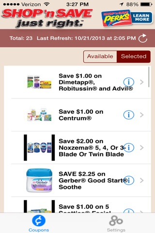 SHOP 'n SAVE Digital Coupons screenshot 2