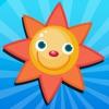 活躍! 遊戲對兒童的了解與陽光,雨水和雲天氣