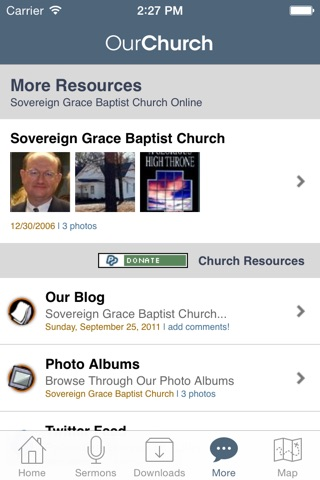 Sovereign Grace Baptist Church, Jacksonville NC screenshot 4