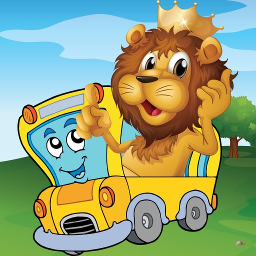 Animal Car Games for Kids - Play Jigsaw Puzzles and Paint Race car, Air Plane, Truck & Boat with Funny Lion, Bear & Cat - for Preschool Kids and Toddler