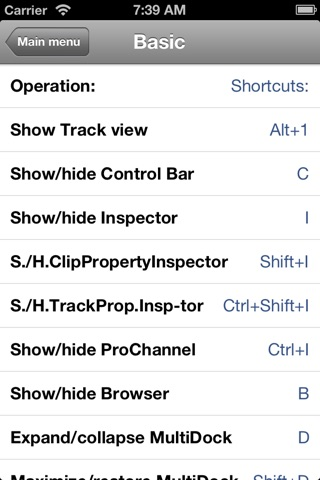 Shortcuts for Cakewalk Sonar screenshot 4