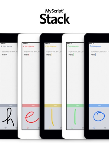 MyScript Stack - Handschrift-Tastatur Screenshot