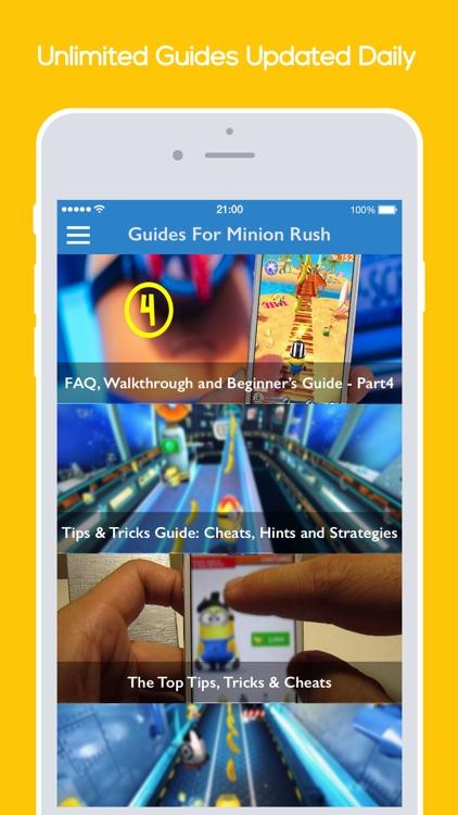 Guides For Minion Rush - Tips, Cheats, Tricks & Walkthrough