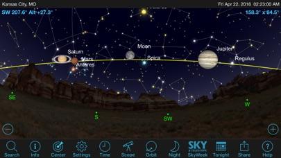 Screenshot SkySafari 5 Plus