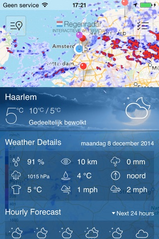 Regen Radar NL screenshot 2
