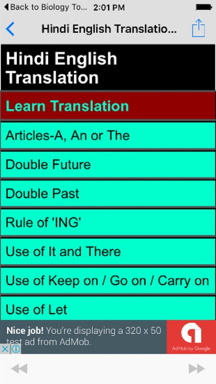 Let translate in hindi