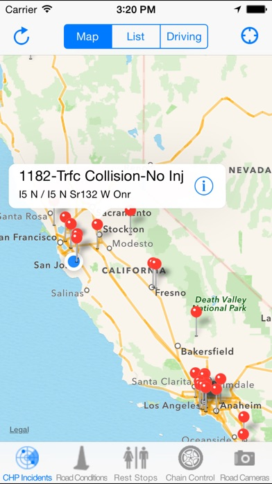 California Road Report On The App Store - Highway map of california