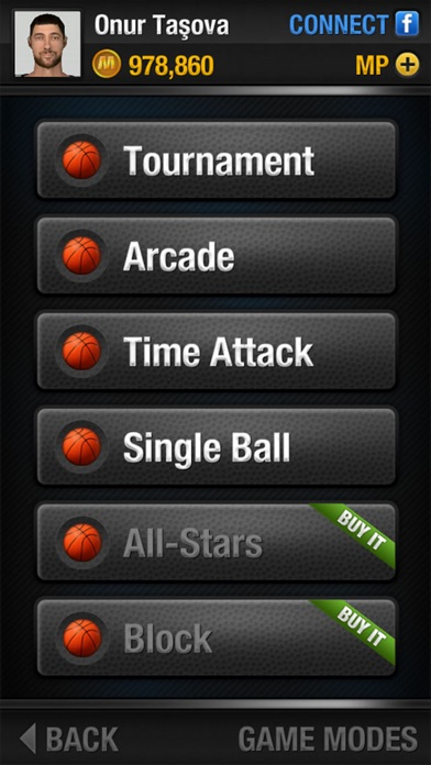 Screenshots of Real Basketball for iPhone