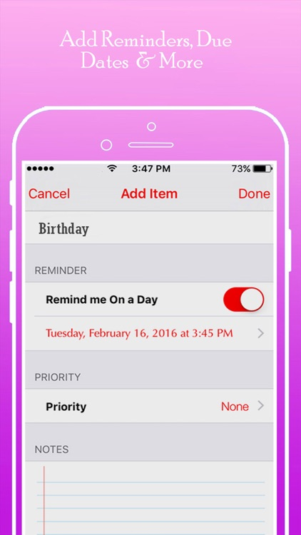 schedule maker make a list of task business projects things to