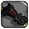 3D Zig-Zag Bat Mobile - Dark Hero Car Knight with Super-Hero Man Racer