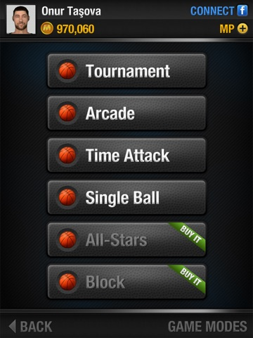 Screenshots of Real Basketball for iPad