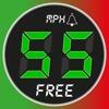 Tacho – Free - Alarme bei Geschwindigkeit mit HUD,  Karte und GPS Black Box