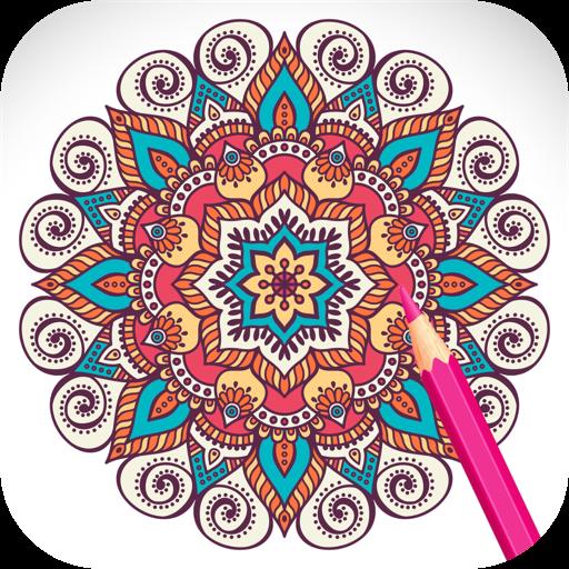 Adult Coloring Book with Mandalas