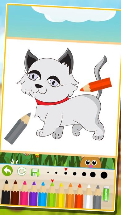 Screenshot of bambini animale libro da colorare: cute cane gatto pittura gattino pony per prescolare1