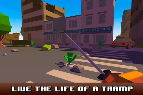 Pixel City Survival Simulator 3D Full screenshot 1