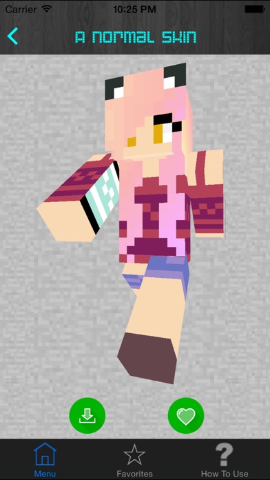 Screenshots of Girl Skins for Minecraft PE (Pocket Edition) - Best Free Skins App for MCPE. for iPhone