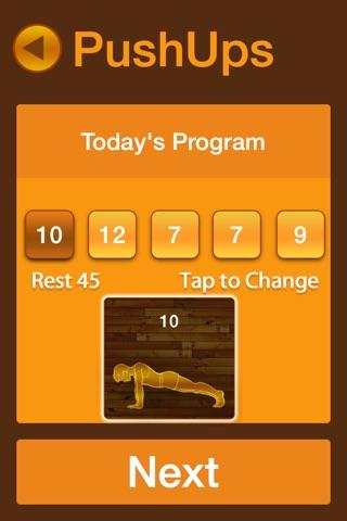 Pushups Fitness Workout screenshot 3