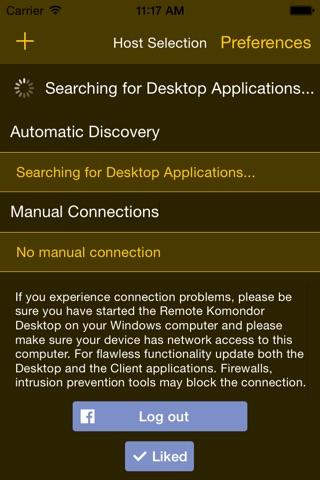 Remote Komondor Lite screenshot 1