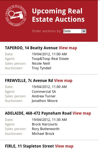 Upcoming Real Estate Auctions South Australia screenshot 1