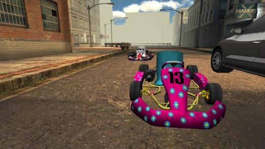 Go-kart City Racing - Outdoor Traffic Speed Karting Simulator Game PRO Screenshot