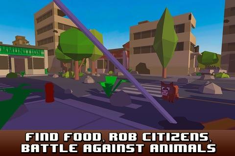 Pixel City Survival Simulator 3D Full screenshot 4