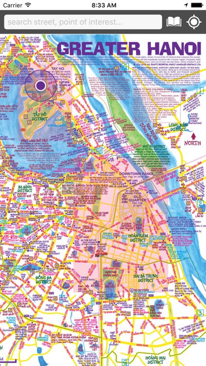 Map of Hanoi by Nancy Chandler Graphics