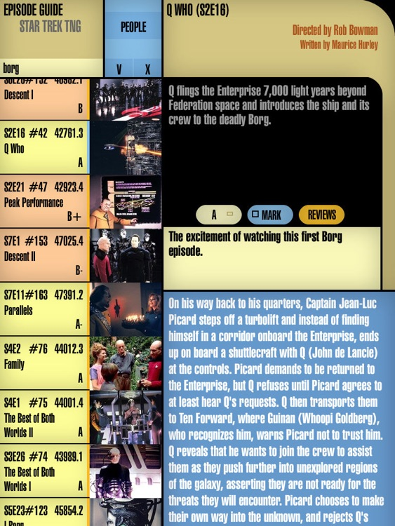 episode guide for star trek tng by patrick de groot rh appadvice com star trek ds9 viewing guide star trek tng viewing guide reddit