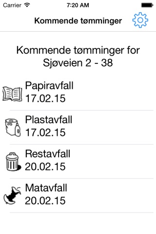 Tømmekalender screenshot 1