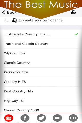 Country music radio fm streaming with live stations playing classic and best country hits playlists screenshot 2