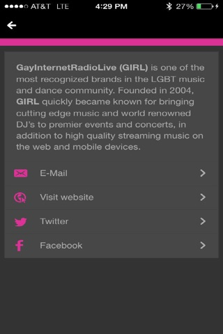 GayInternetRadioLive (GIRL) screenshot 4