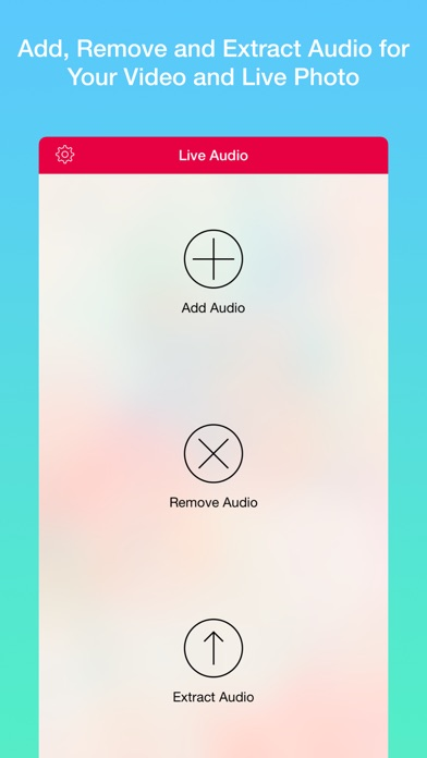 Audio Tool - Add, Remove and Extract Audio for Live Photo and Video Screenshot