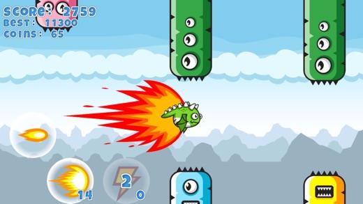 Flappy Clumsy Dragon Screenshot
