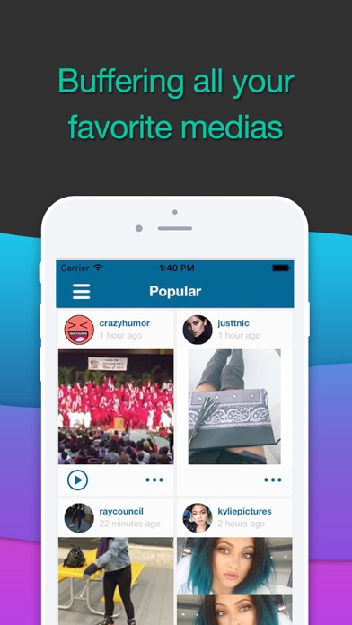 Screenshots of InstaGrab - FREE unlimited view tool for Instagram for iPhone