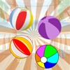 Beach ball shooting game for kids and adult practice skills