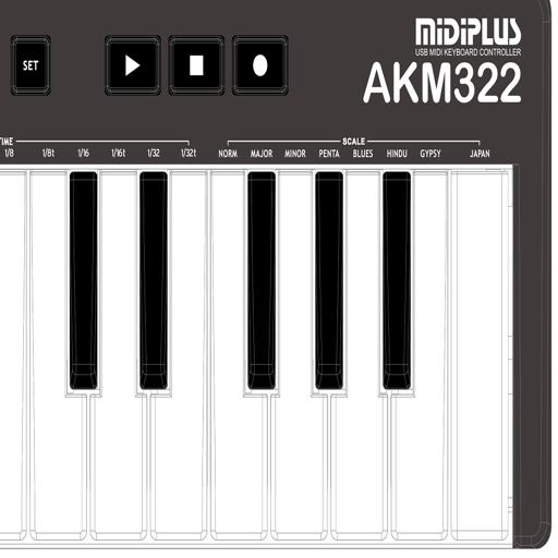 AKM322 MIDIEditor