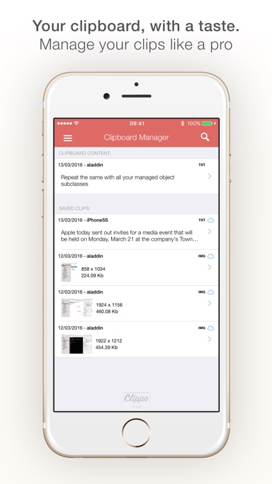Clippo - Clipboard manager Screenshots
