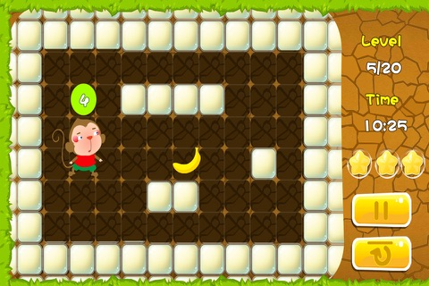 Monkey find the way to bananas (Happy Box) free puzzle games screenshot 2