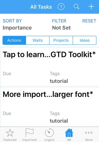 ActionComplete GTD Toolkit 2 screenshot 2