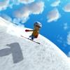 Ski Snowboarder Race