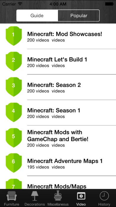 Screenshots of Free Furniture For Minecraft PE (Pocket Edition) for iPhone