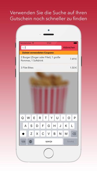 kfc gutscheine app