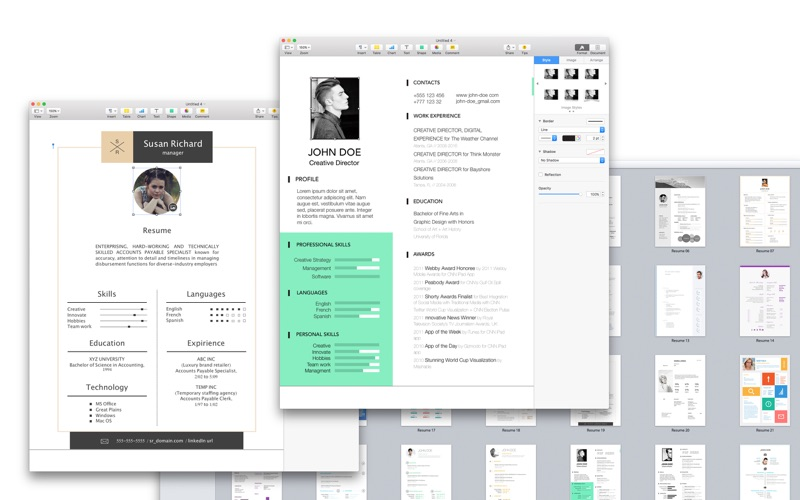 screenshot 1 - Resume Templates For Mac Pages