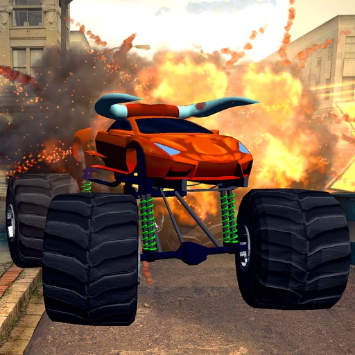 Crushing Cars with a Monster Truck!   Monster Truck Kids ...