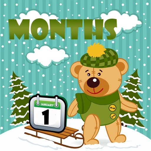 Months of Year Learning For toddlers Using Flashcards and Sounds-A Family Magnetic Calendar iOS App
