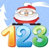 Learning english count numbers 123 and santaclaus vocabulary
