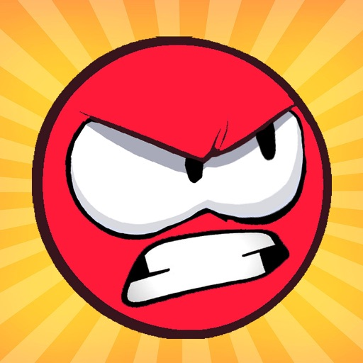 Angry Red Ball Fly - Crazy Adventure In Amazing World - Fun Ball Bounce and Jump